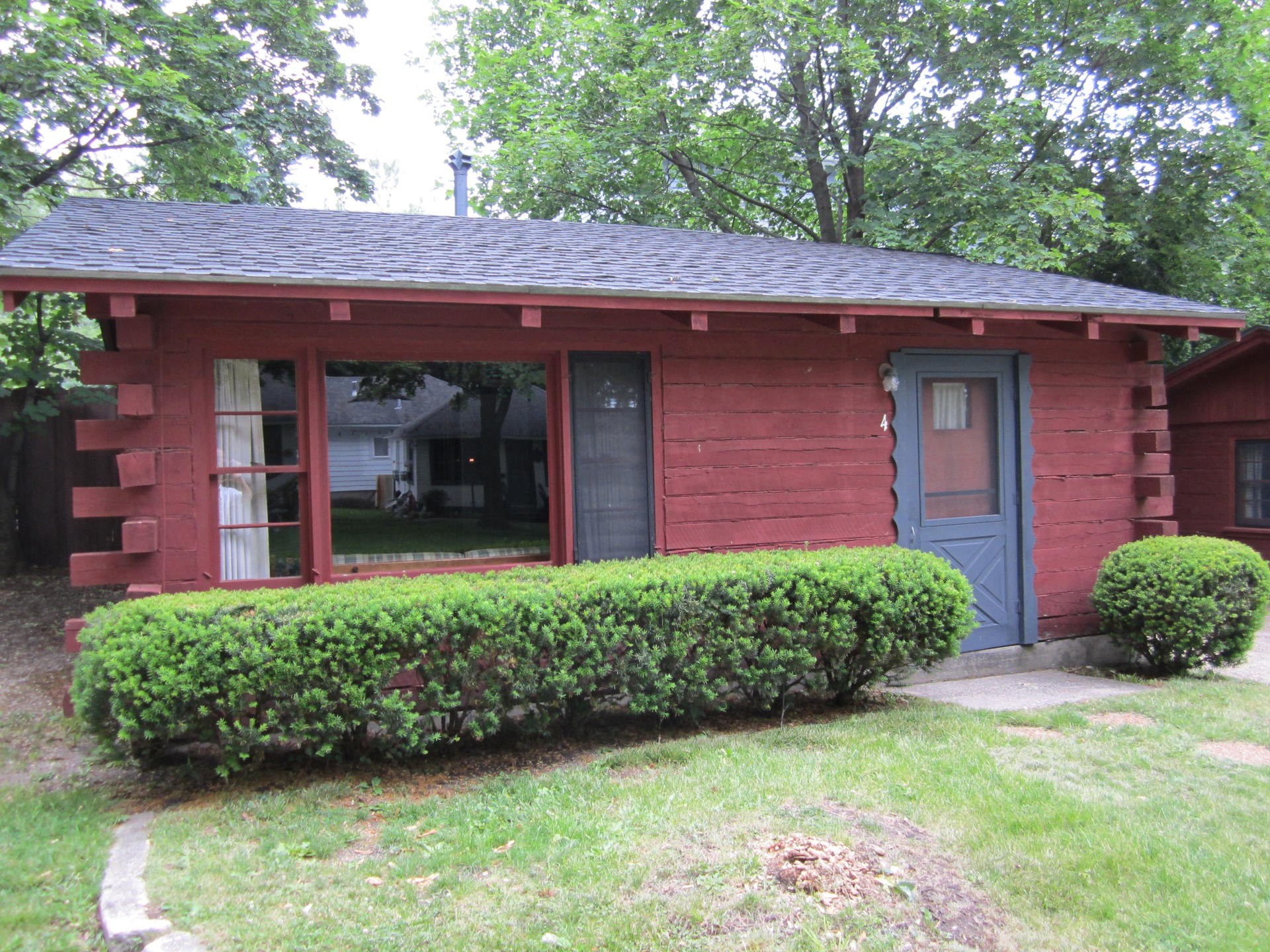 Typical cabin front view